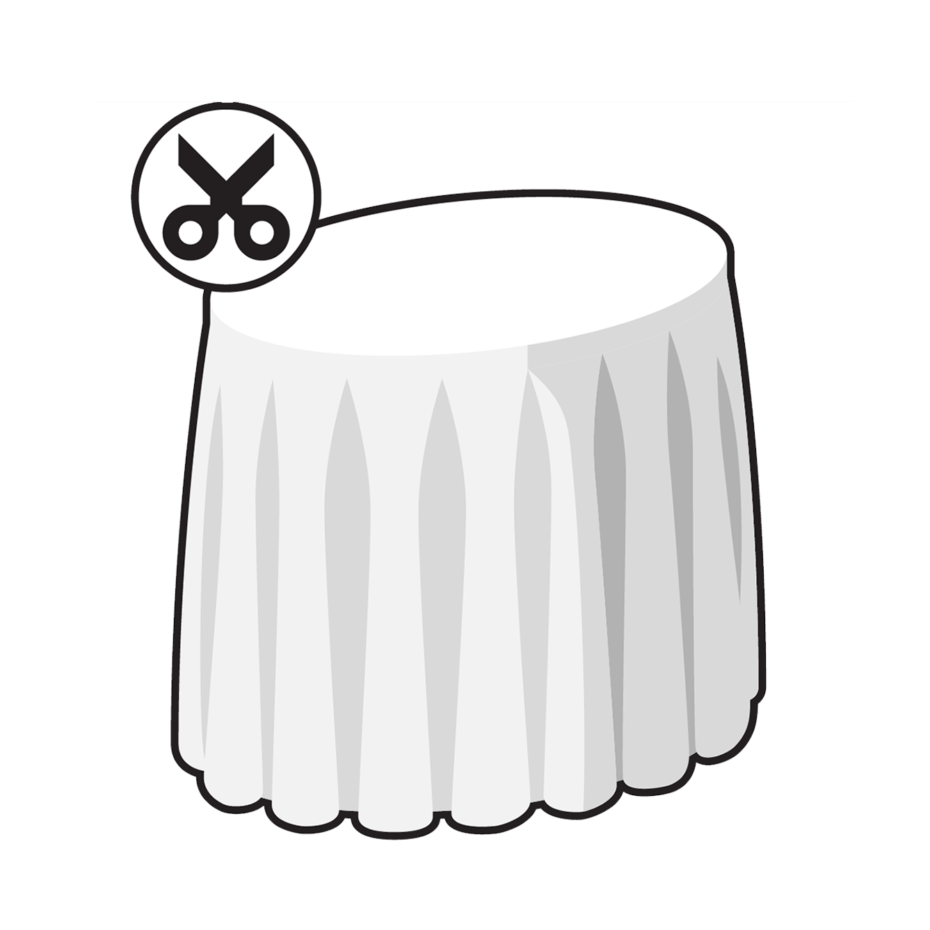 Customised Pleated Tablecloth